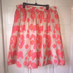 Lane Bryant Pink & Orange Floral Skirt, size 18/20